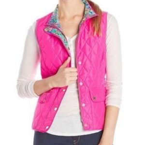 NWT Lilly Pulitzer tropical pink Blake vest size S